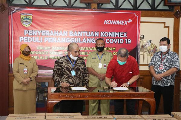 Bantuan CSR Konimex kepada Pemerintah Kabupaten Sukoharjo