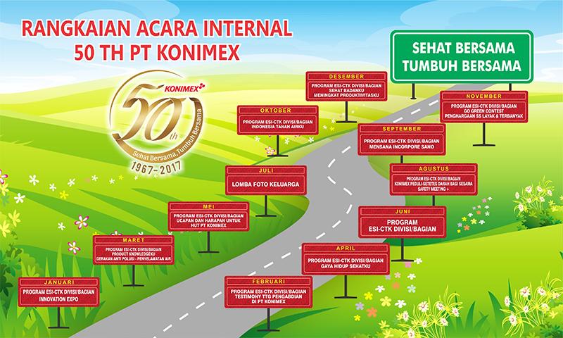 Rangkaian Acara Internal 50 TH PT Konimex