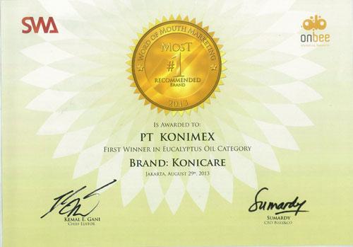 Konicare kembali mendapatkan penghargaan