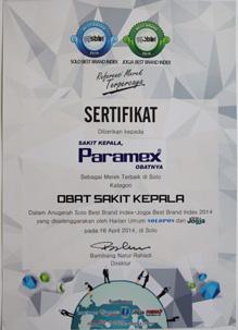 Paramex SBBI Award