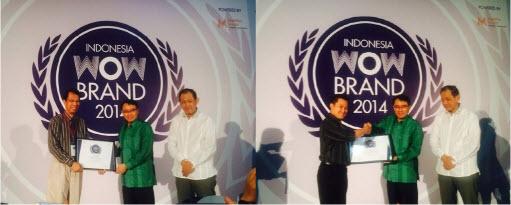 Konidin, Ever E, Anakonidin OBH dan Hexos Raih Penghargaan Indonesia WOW Brand 2014 dari MarkPlus Inc.